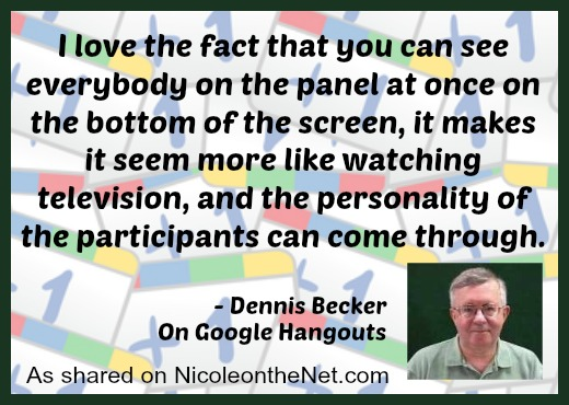Google Hangouts - Dennis Becker Quote