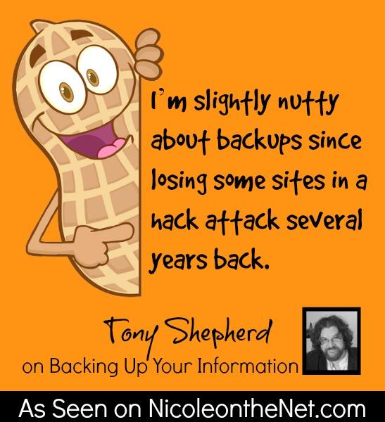 How Do You Backup - Tony Shepherd - 060314