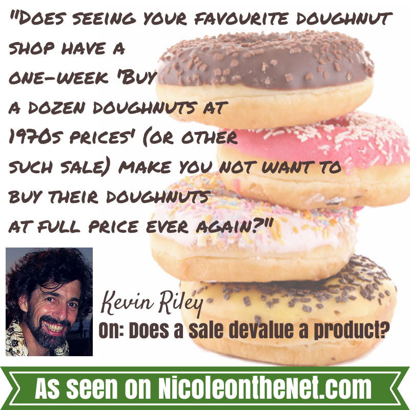 So, does a sale devalue a product-032014
