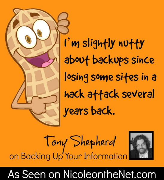 How Do You Backup - Tony Shepherd - 060314